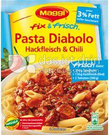 Produktabbildung: Maggi fix & frisch Pasta Diabolo Hackfleisch & Chili 44 g