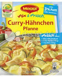 Produktabbildung: Maggi fix & frisch Curry-Hähnchen Pfanne 44 g