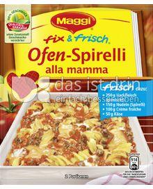 Produktabbildung: Maggi fix & frisch Ofen-Spirelli alla mamma 45 g