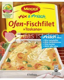Produktabbildung: Maggi fix & frisch Ofen-Fischfilet »Toskana« 36 g