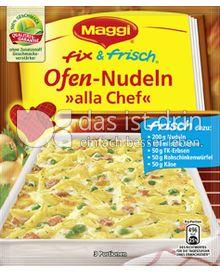 Produktabbildung: Maggi fix & frisch Ofen-Nudeln »alla Chef« 45 g