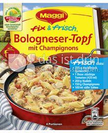 Produktabbildung: Maggi fix & frisch Bologneser-Topf mit Champignons 50 g