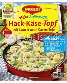 Produktabbildung: Maggi fix & frisch Hack-Käse-Topf 55 g