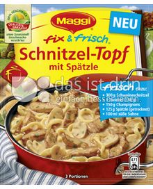 Produktabbildung: Maggi fix & frisch Schnitzel-Topf mit Spätzle 50 g