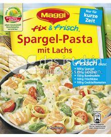 Produktabbildung: Maggi fix & frisch Spargel-Pasta mit Lachs 47 g