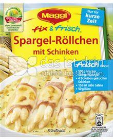Produktabbildung: Maggi fix & frisch Spargel-Röllchen mit Schinken 48 g