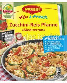 Produktabbildung: Maggi fix & frisch Zucchini-Reis Pfanne »Mediterran« 36 g