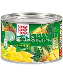 Produktabbildung: Libby's Ananas in Stücken Natursüß 235 g