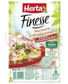 Produktabbildung: Herta Finesse raffinierte Schinkenwurst 80 g