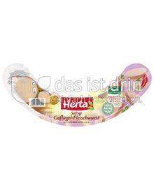 Produktabbildung: Herta Saftige Geflügel-Fleischwurst mit Knoblauch 400 g