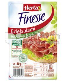 Produktabbildung: Herta Finesse Edelsalami hauchzart & herzhaft 80 g