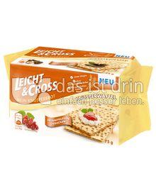 Produktabbildung: Leicht & Cross Mein Knusperbrot Knusperwaffel 75 g