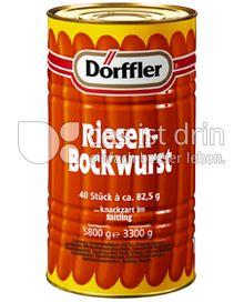 Produktabbildung: Dörffler Riesenbockwurst 3,3 kg
