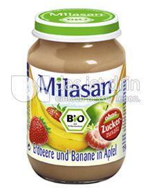 Produktabbildung: Milasan Erdbeere und Banane in Apfel 190 g