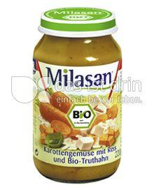 Produktabbildung: Milasan Karottengemüse mit Reis und Bio-Truthahn 220 g