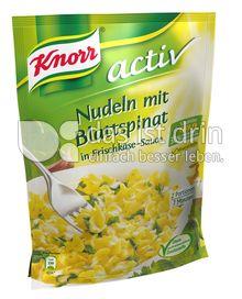 Produktabbildung: Knorr activ Nudeln mit Blattspinat in Frischkäse-Sauce 168 g