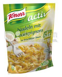 Produktabbildung: Knorr activ Nudeln mit Champignons in Frischkäse-Sauce 155 g