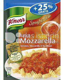Produktabbildung: Knorr Spaghetteria Sauce Mozzarella
