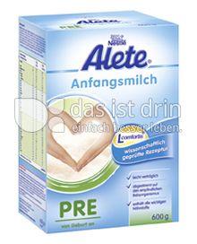Produktabbildung: Nestlé Alete Anfangsmilch PRE 600 g