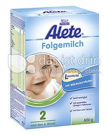 Produktabbildung: Nestlé Alete Folgemilch 2 600 g