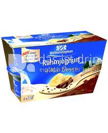 Produktabbildung: Weihenstephan Rahmjoghurt 4 Mini-Desserts à la Banana-Split 300 g