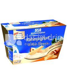Produktabbildung: Weihenstephan Rahmjoghurt 4 Mini-Desserts à la Weißer Nougat 300 g