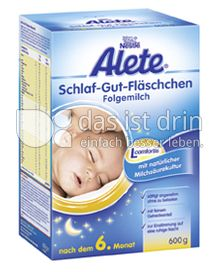 Produktabbildung: Nestlé Alete Schlaf-Gut-Fläschchen Folgemilch 600 g