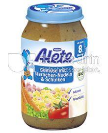 Produktabbildung: Nestlé Alete Gemüse mit Sternchen-Nudeln & Schinken 220 g