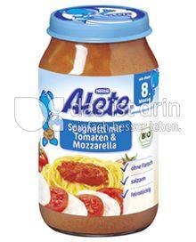 Produktabbildung: Nestlé Alete Spaghetti in Tomaten & Mozzarella 220 g