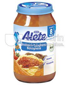 Produktabbildung: Nestlé Alete Vollkorn-Spaghetti Bolognese 220 g
