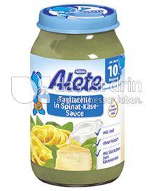 Produktabbildung: Nestlé Alete Tagliatelle in Spinat-Käse-Sauce 220 g