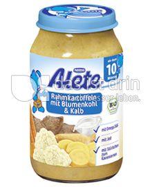 Produktabbildung: Nestlé Alete Rahmkartoffeln mit Blumenkohl & Kalb 220 g