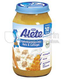 Produktabbildung: Nestlé Alete Rahmkarotten mit Reis & Geflügel 220 g