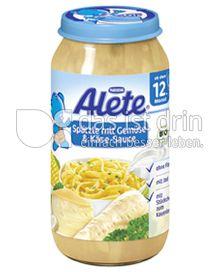 Produktabbildung: Nestlé Alete Spätzle mit Gemüse & Käse-Sauce 250 g