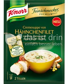 Produktabbildung: Knorr Feinschmecker Premium ***** Cremesuppe von Hähnchenfilet 0,5 l