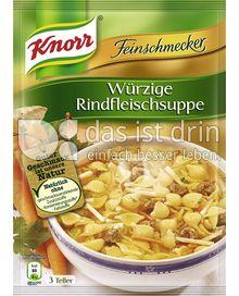 Produktabbildung: Knorr Feinschmecker Würzige Rindfleischsuppe 0,75 l