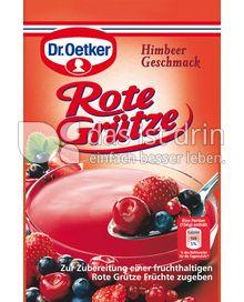 Produktabbildung: Dr. Oetker Rote Grütze Himbeer-Geschmack