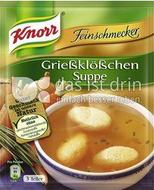 Produktabbildung: Knorr Feinschmecker Grießklößchen Suppe 0,75 l