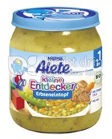 Produktabbildung: Nestlé Alete Kleine Entdecker Erbseneintopf 250 g