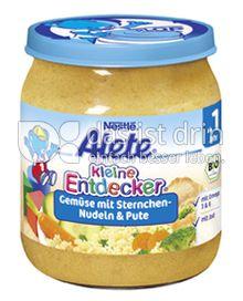 Produktabbildung: Nestlé Alete Kleine Entdecker Gemüse mit Sternchen-Nudeln & Pute 250 g