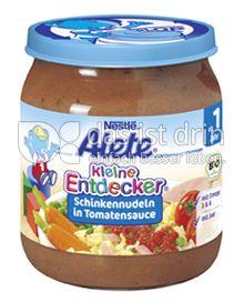 Produktabbildung: Nestlé Alete Kleine Entdecker Schinkennudeln in Tomatensauce 250 g