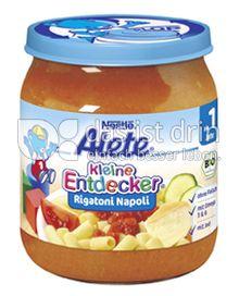 Produktabbildung: Nestlé Alete Kleine Entdecker Rigatoni Napoli 250 g
