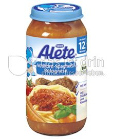 Produktabbildung: Nestlé Alete Vollkorn-Spaghetti Bolognese 250 g