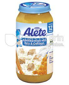 Produktabbildung: Nestlé Alete Rahmkarotten mit Reis & Geflügel 250 g