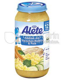 Produktabbildung: Nestlé Alete Gemüse mit Sternchen-Nudeln & Pute 250 g
