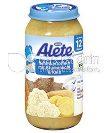 Produktabbildung: Nestlé Alete Rahmkartoffeln mit Blumenkohl & Kalb 250 g