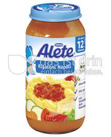 Produktabbildung: Nestlé Alete Rigatoni Napoli 250 g