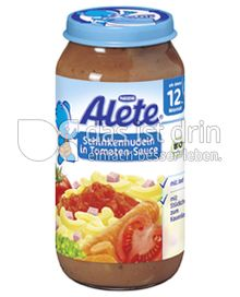 Produktabbildung: Nestlé Alete Schinkdennudeln in Tomaten-Sauce 250 g