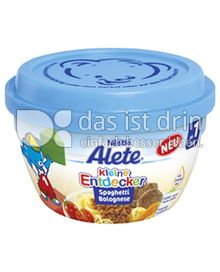 Produktabbildung: Nestlé Alete Kleine Entdecker Spaghetti Bolognese 260 g