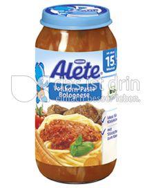 Produktabbildung: Nestlé Alete Vollkorn-Pasta Bolognese 250 g